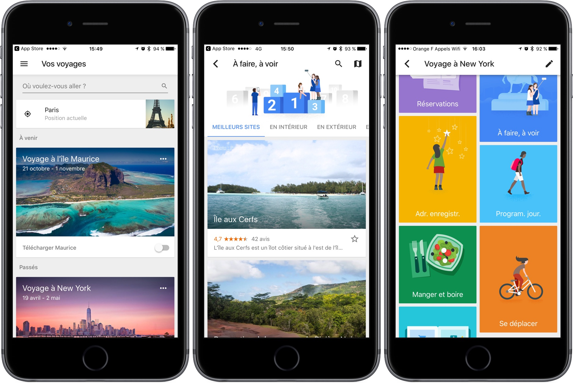 Application google trips