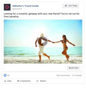 Une offre publicitaire de Facebook pour le tourisme